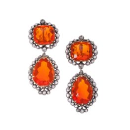 Fire opal earrings, 19th Century