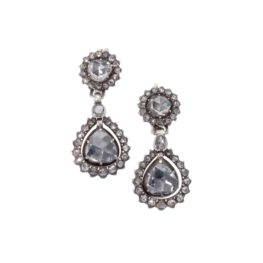 Roosdiamant earrings 19th century 1