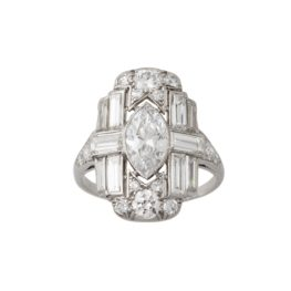 art deco diamond ring 1920s