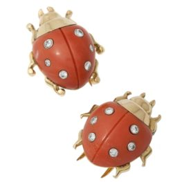 Two Cartier ladybird brooches 1960s
