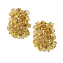 verdura yellow sapphire clip earrings