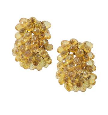 verdura yellow sapphire clip earrings