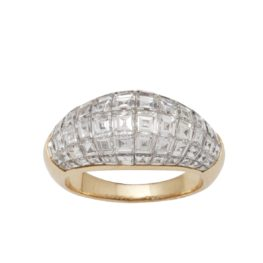 ring van cleef & arpels serti invisible diamond