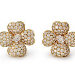 van cleef & arpels 'cosmos' diamond earrings