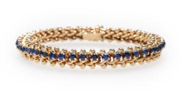 georges lenfant sapphire bracelet 1970s