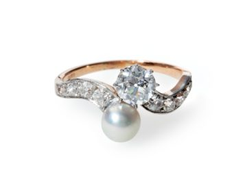 crossover ring belle epoque diamond pearl van kooten amsterdam