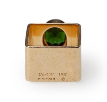 Jean Dinh Van for Cartier tourmaline ring ca 1960