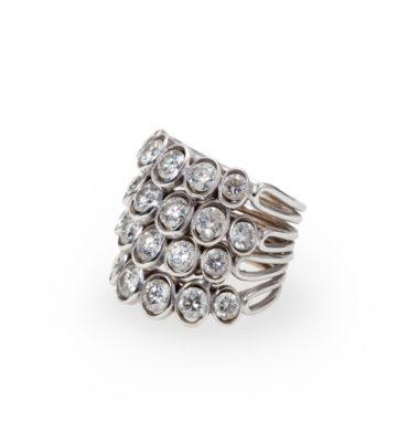 Ring René Boivin 4 Corps diamond ca 1950