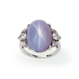 ring star sapphire and diamond
