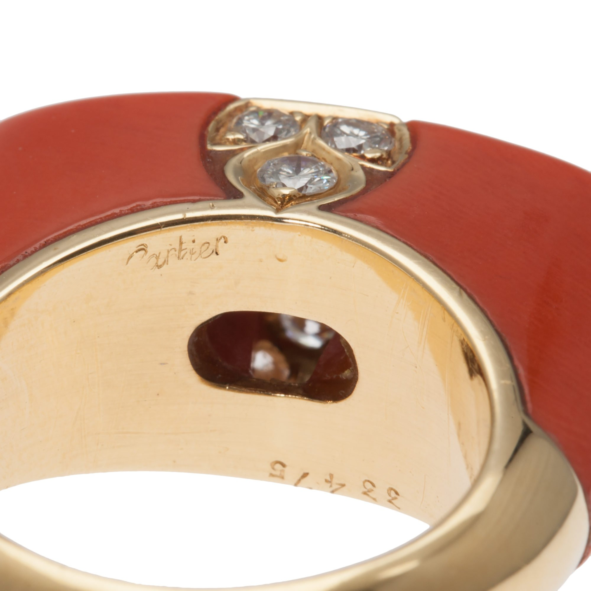 gold coral ring products pascale molten rings james vermeil x