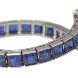 tiffany sapphire line bracelet 1950s