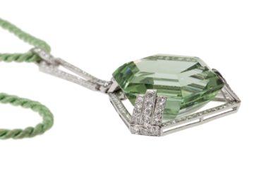 art deco pendant green beryl 1920s