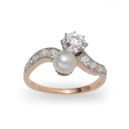 crossover ring belle epoque diamond pearl van kooten amsterdam