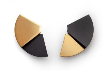 JAR aluminium clip earrings fan