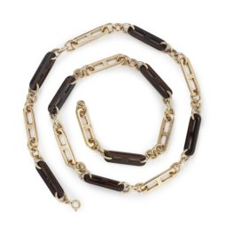 gucci gold and wood longchain ca 1965