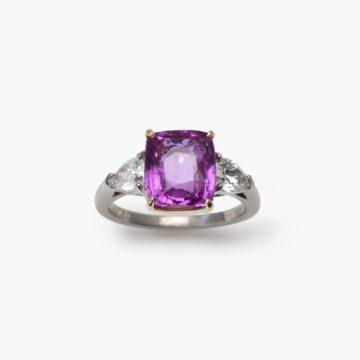 Bvlgari unheated pink sapphire ring