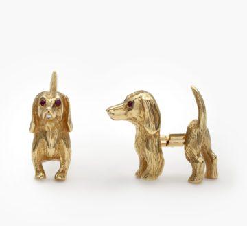 Cartier cufflinks dachshund