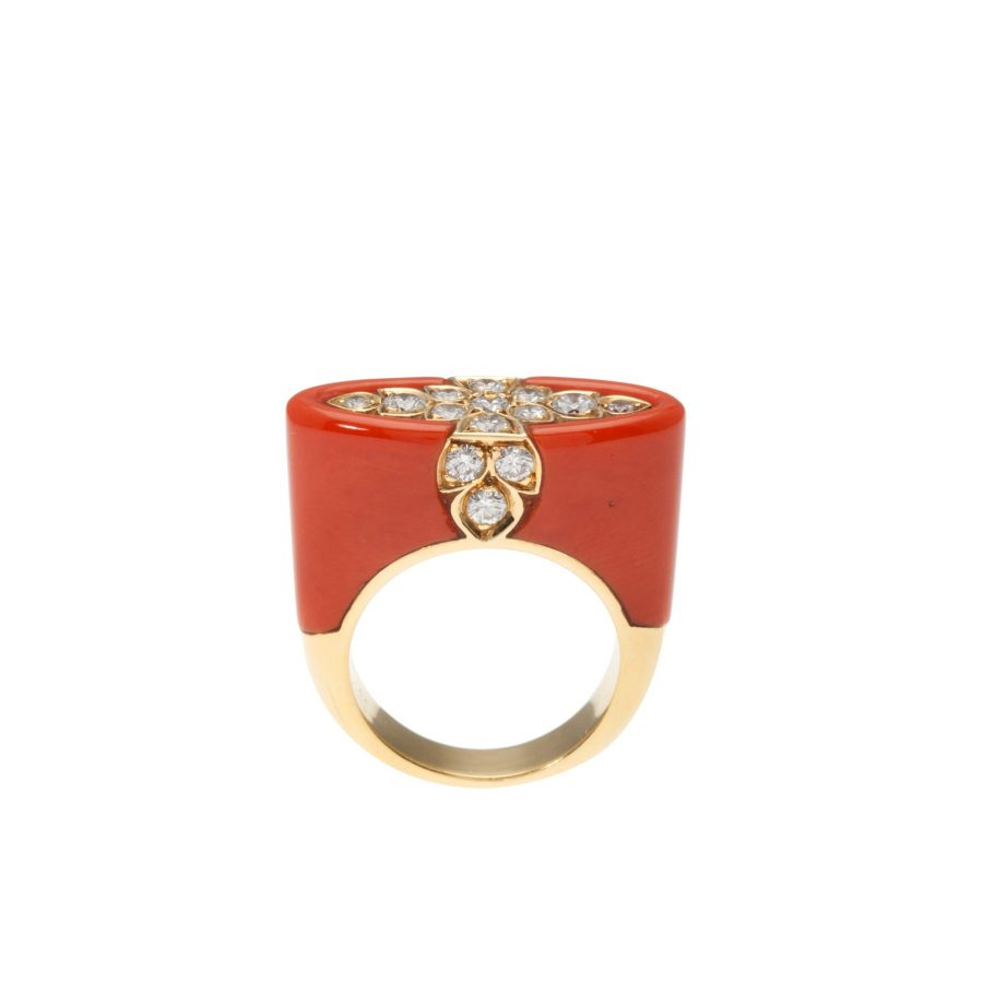 Cartier coral ring, after 1980 3