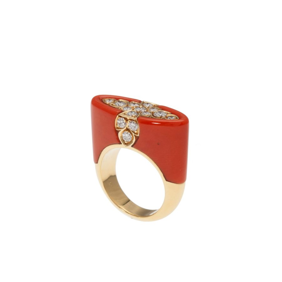 Cartier coral ring, after 1980