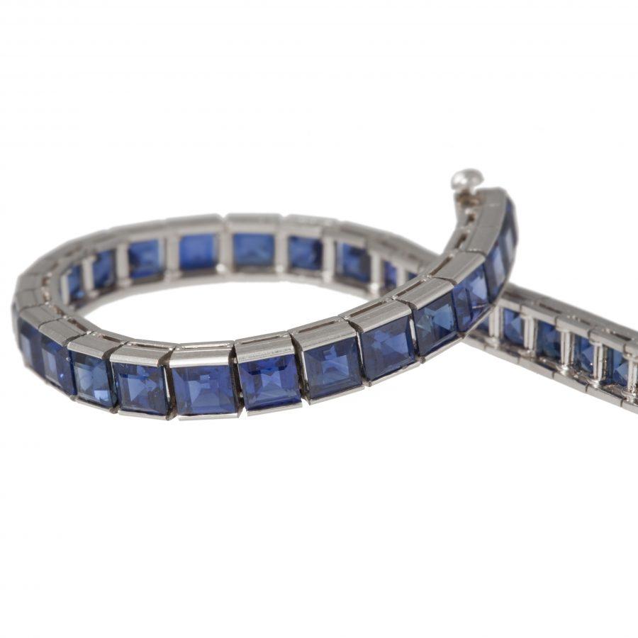 tiffany & co blue sapphire line bracelet