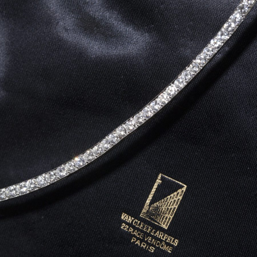 van cleef & arpels diamond riviere necklace