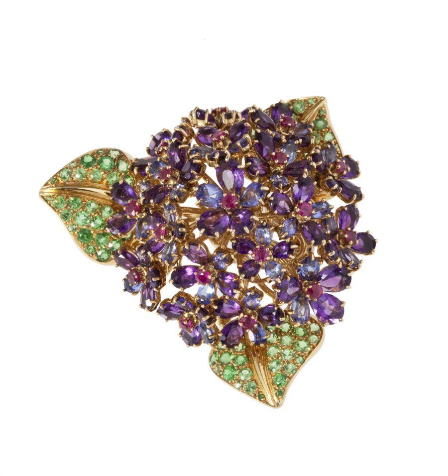 rené boivin flower brooch 1980s