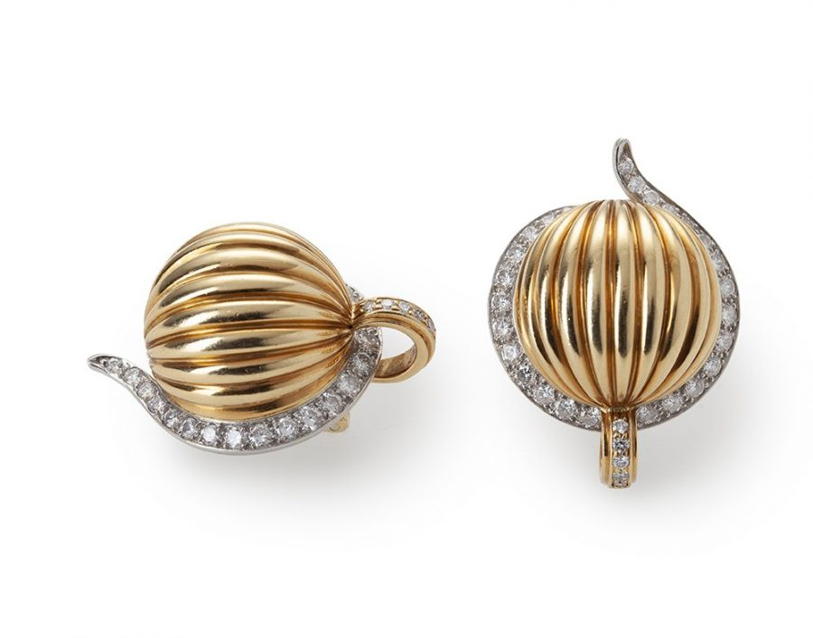 Cartier clip earrings diamond London 1979