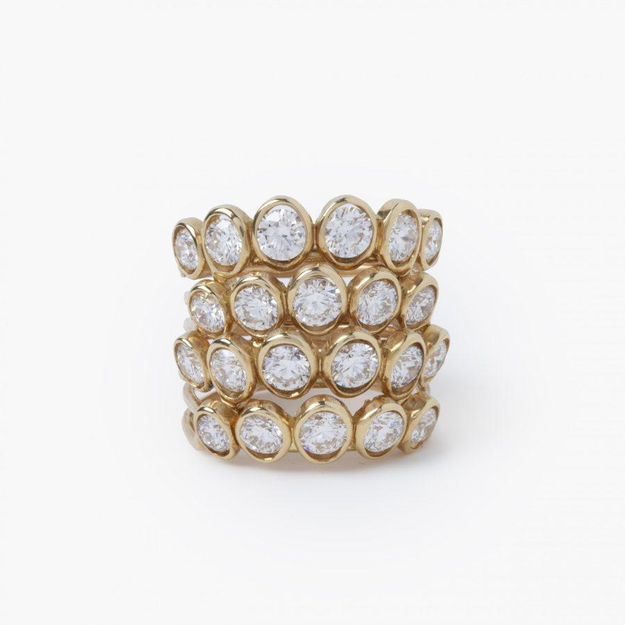 René Boivin quatre corps diamond ring Paris, ca 1950