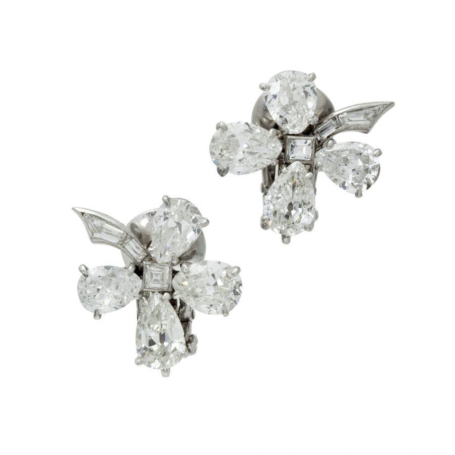 Van Cleef & Arpels diamond flower earrings