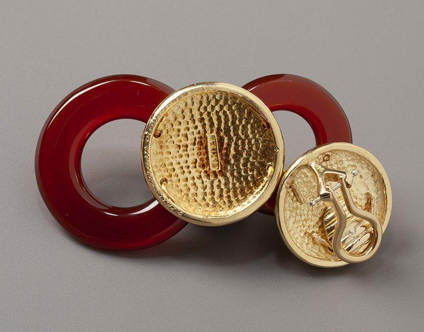 cipullo for cartier cornelian earrings 1972