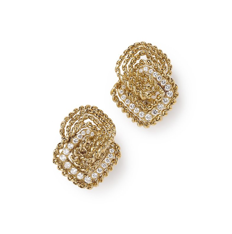 van cleef arpels pendant brooch earrings 1970s