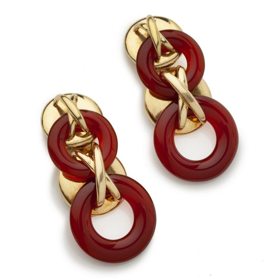 aldo cipullo for cartier cornelian earrings