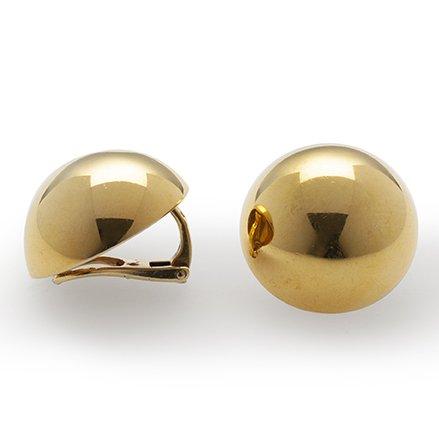 cartier earrings semi spheres
