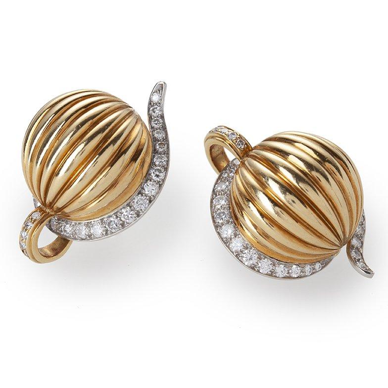 cartier melon clip earrings