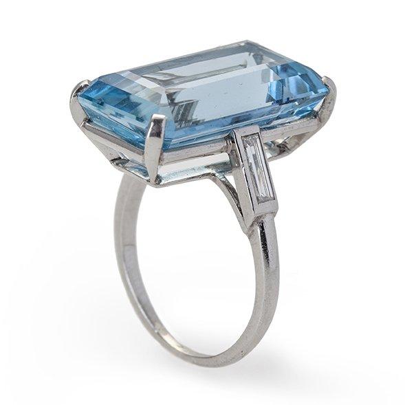 cartier ring aquamarine