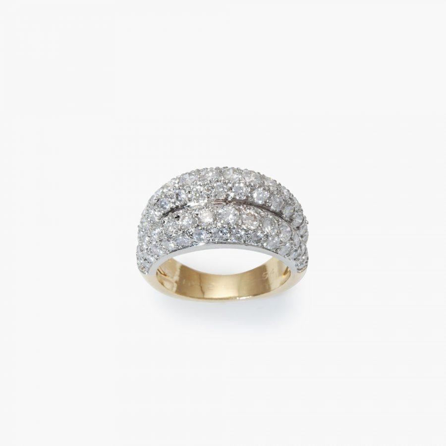 Cartier bombé diamond ring