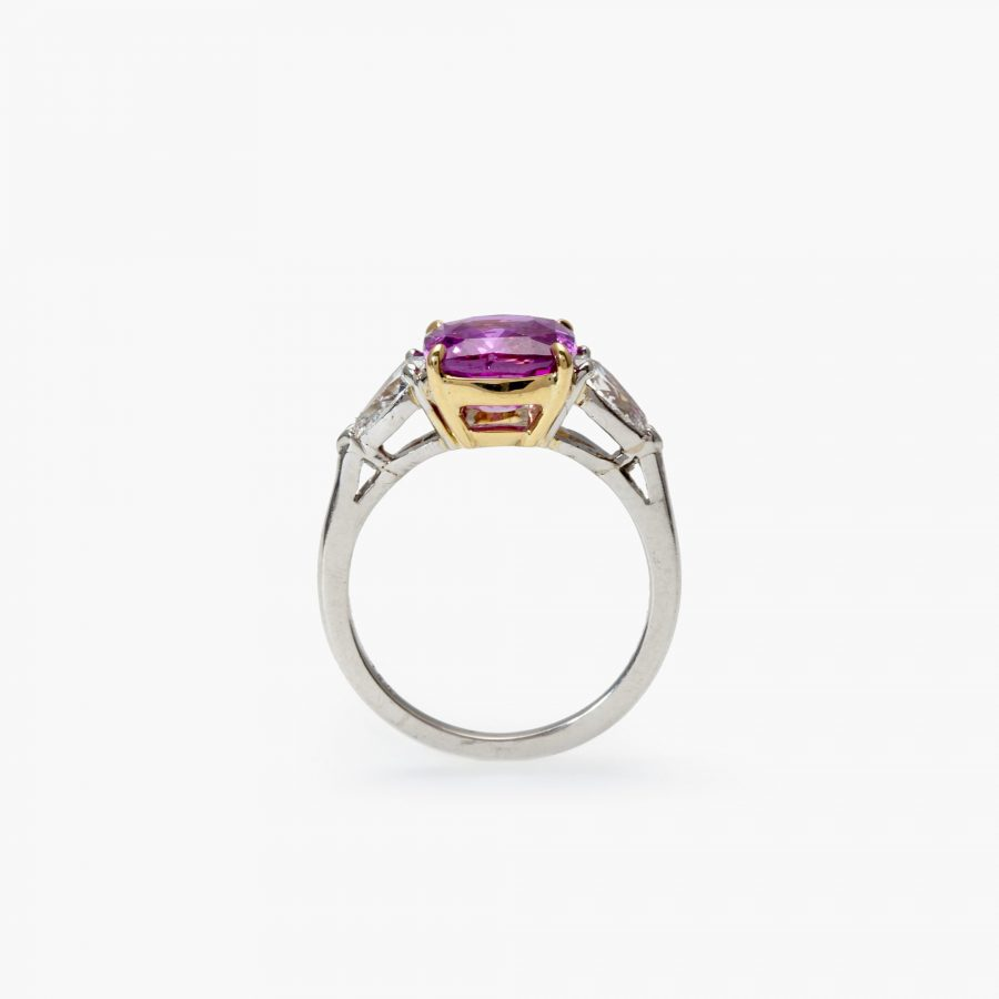 Bvlgari unheated pink sapphire ring 2