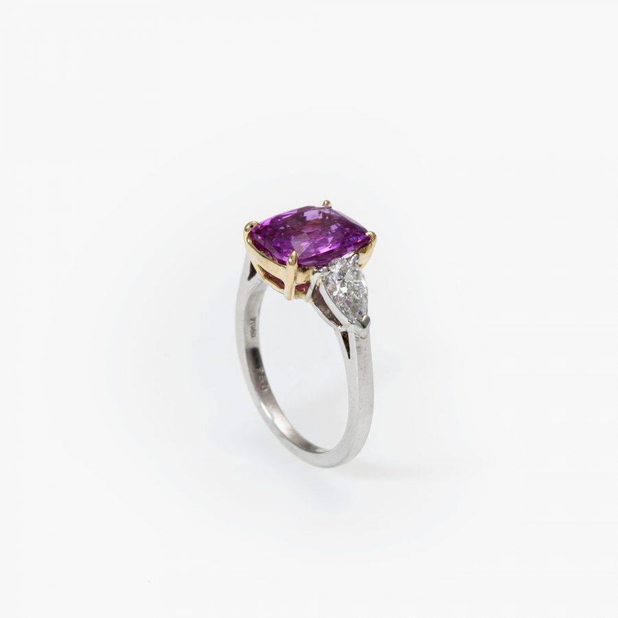 Bvlgari unheated pink sapphire ring 3