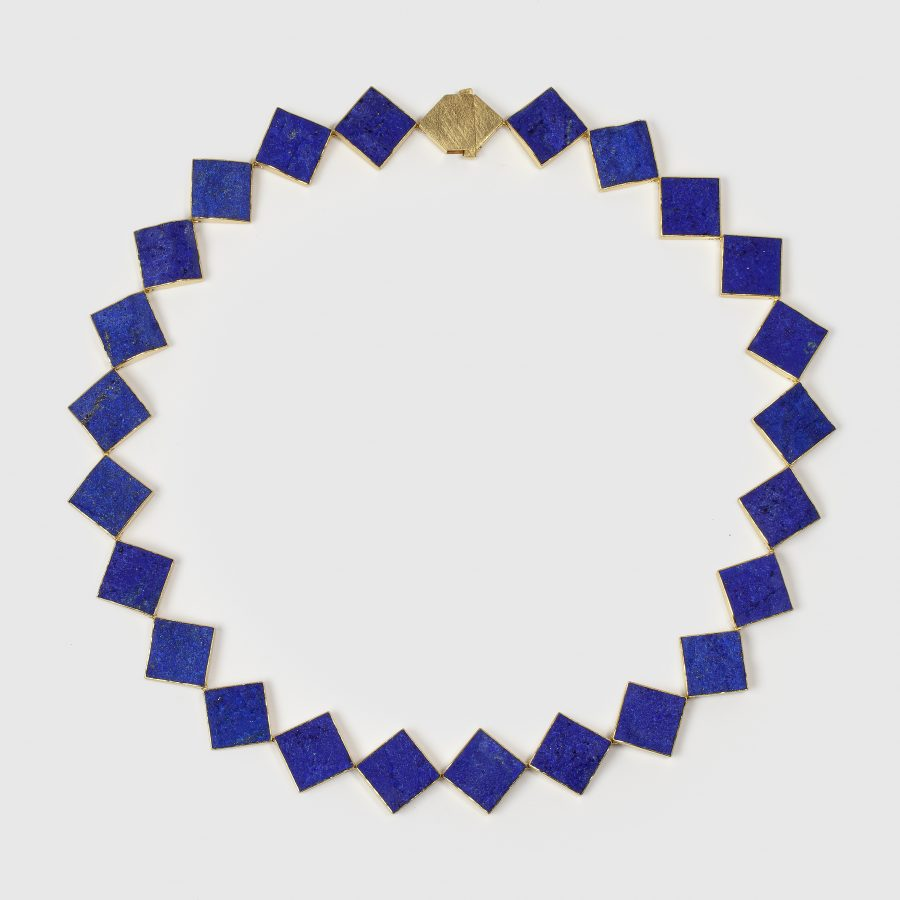 Michael Becker unpolished lapis lazuli necklace