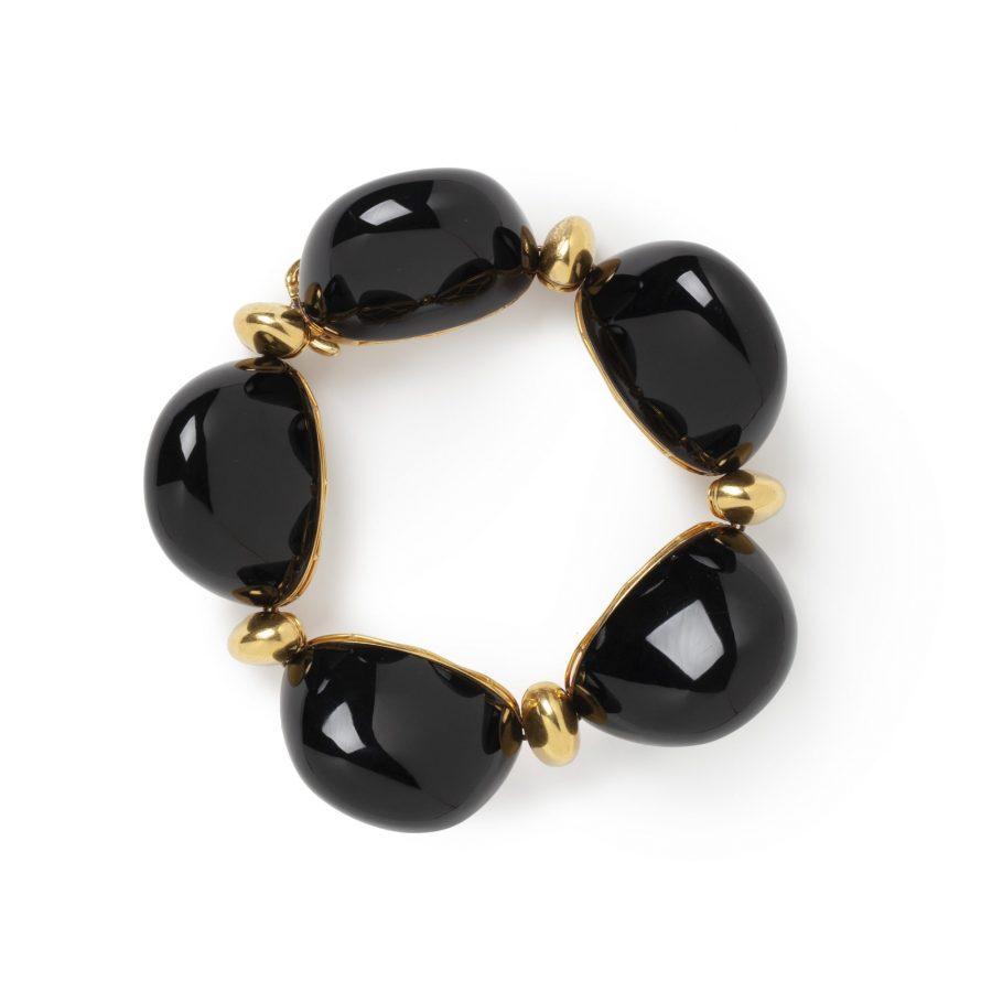 Bracelet onyx 1960's