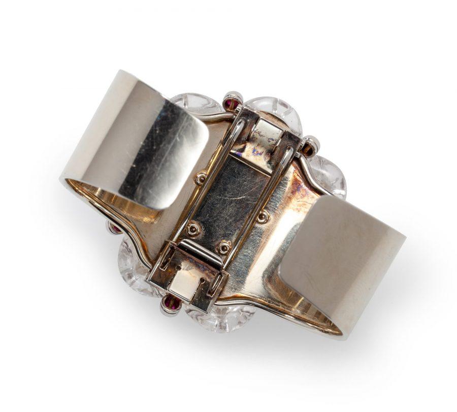 Suzanne Belperron rock crystal brooch bracelet