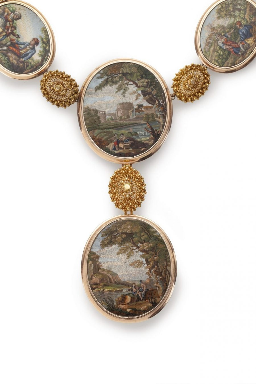 Micromosaic necklace 19th century