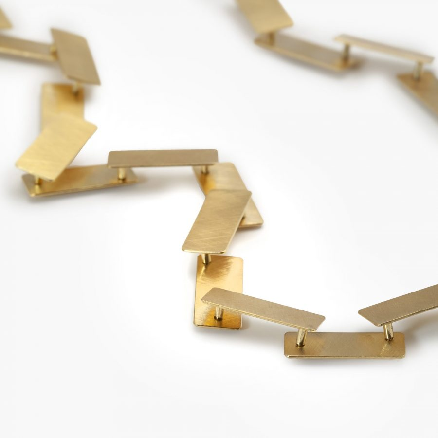 Michael Becker satine yellow gold necklace