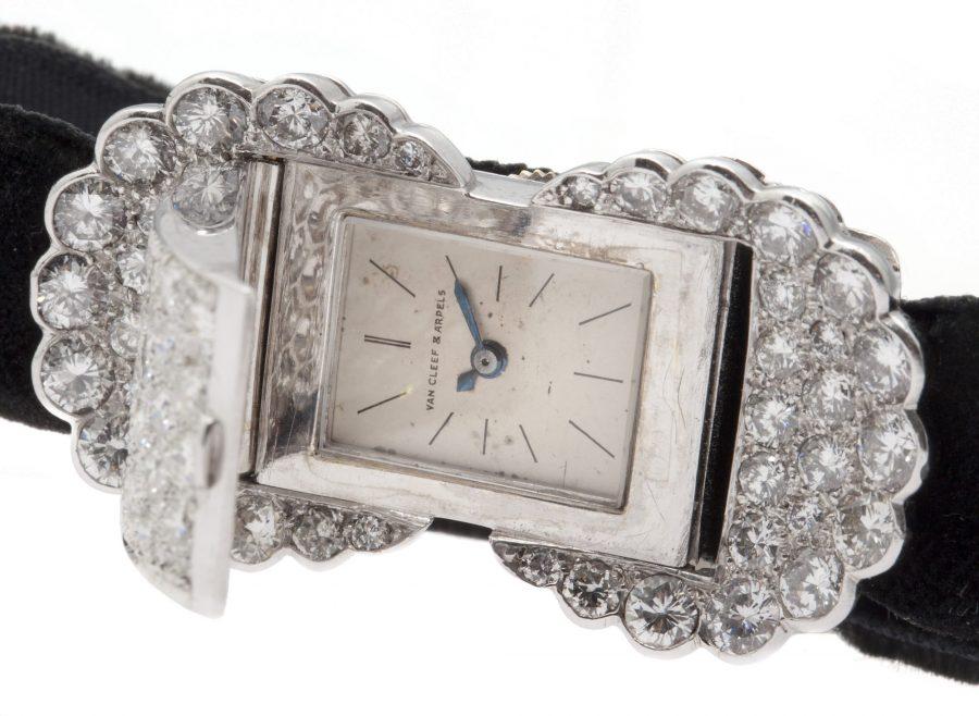Van Cleef & Arpels diamond platinum watch