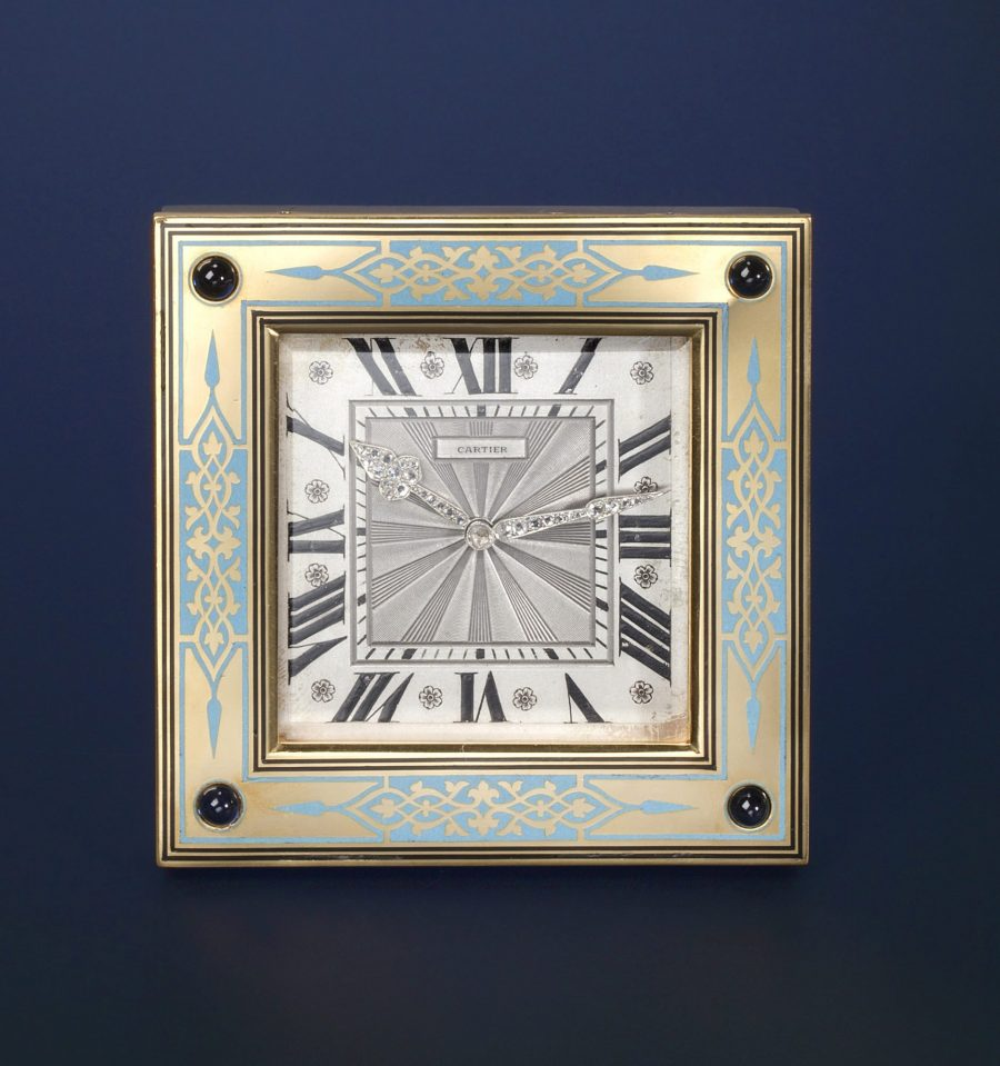 Cartier Art Deco desk clock 1920