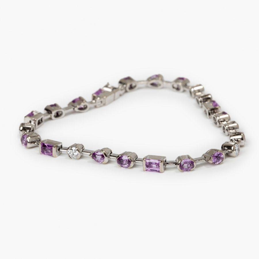 Cartier Meli Melo bracelet diamond and pink sapphire