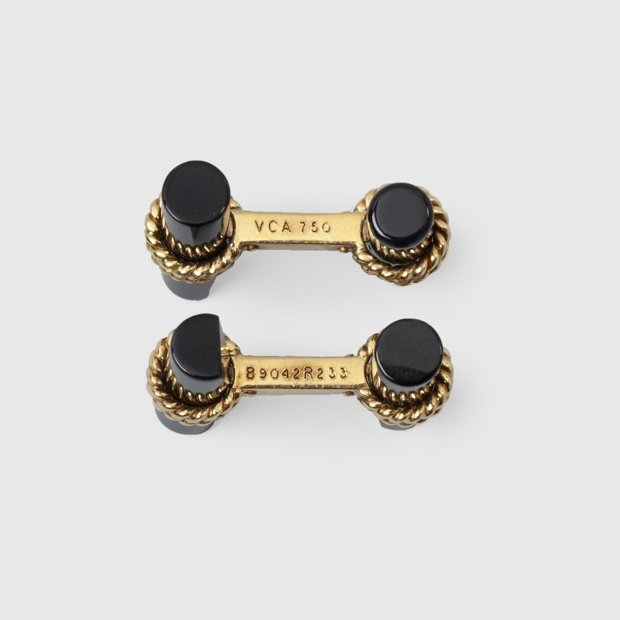 Van Cleef & Arpels onyx baton cuff links