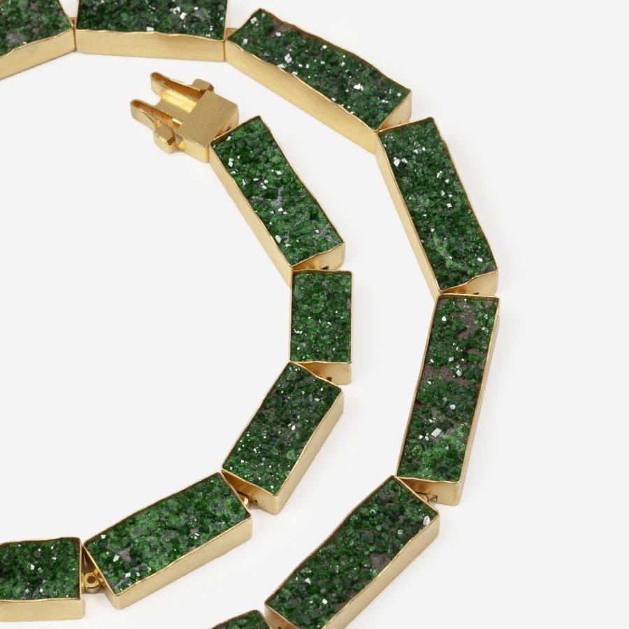michael becker uvarovite necklace