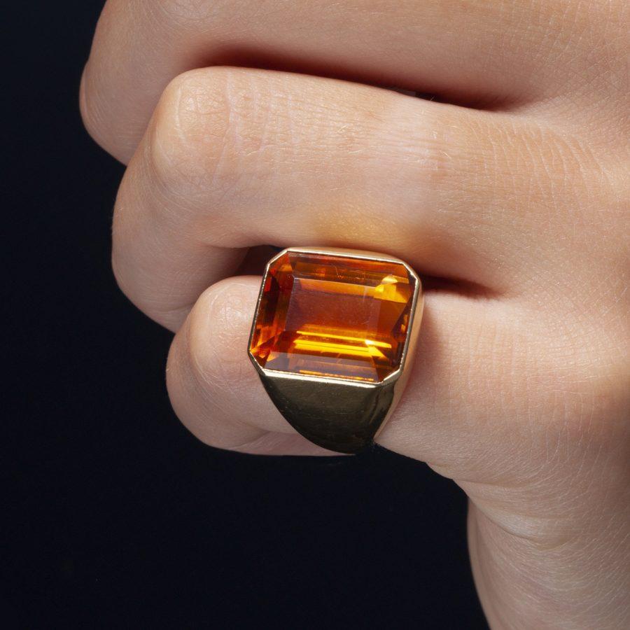 Suzanne Belperron citrine ring 1956