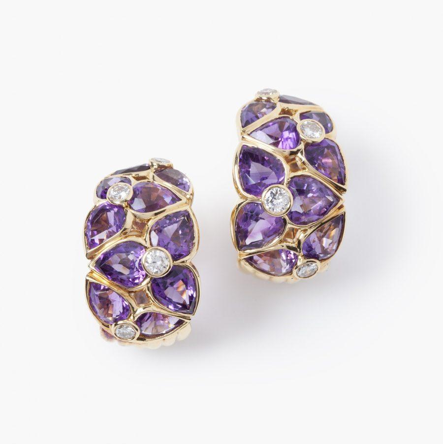 Van Cleef & Arpels amethist flower earrings